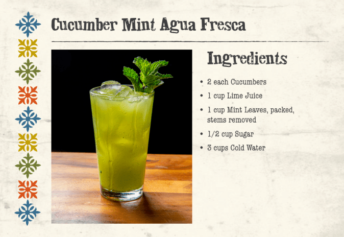 Cucumber Mint Agua Fresca Front